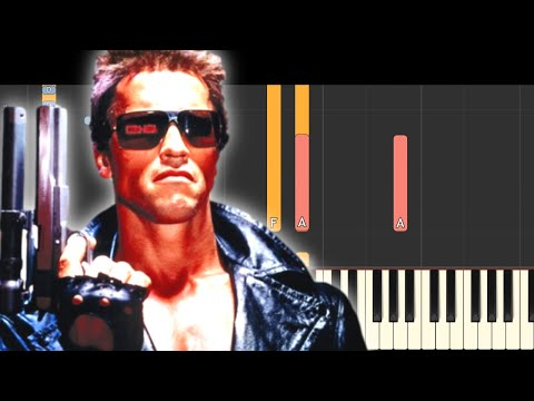 The Terminator Theme Song  Piano Tutorial  Synthesia
