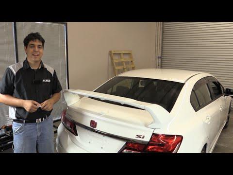 PRO Design TRM Style Spoiler / Wing Install - Honda Civic Sedan 2012 2013 2014 2015
