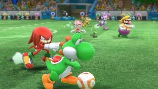 Mario and Sonic at The Rio 2016 Olympic Games #Football- Extra Hard #39-Team Bowser vs Team Amy