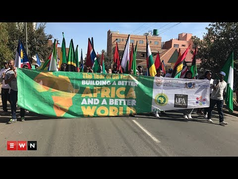Colorful Africa day parade calls for unity in continent