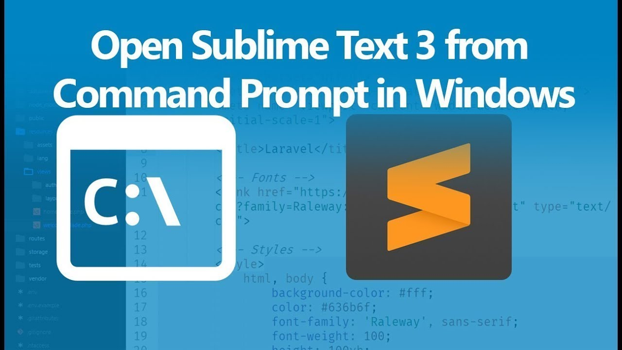 How to Open Sublime Text 3 from Command Prompt in Windows