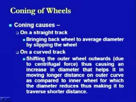 Lec-3 Wheel and Axles, Coning of Wheels
