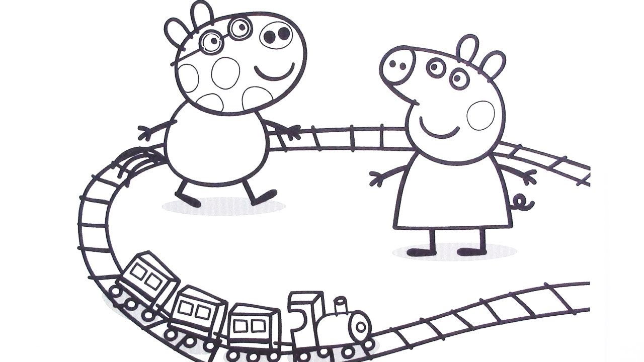 Peppa Pig And Pedro Pony Play A Toy Railway How To Draw Peppa Pig