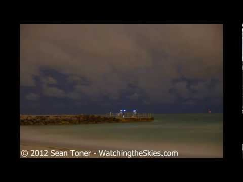 04/05/2012 Offshore Thunderstorms in Time Lapse - Pass-A-Grille Beach, FL