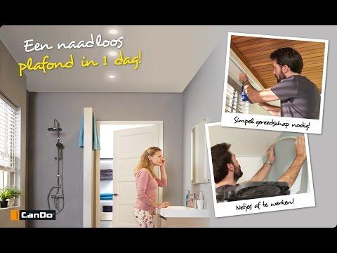 Naadloos Plafond Badkamer : Nu bij kluswijs spanplafond cando youtube