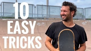 10 EASY Mini Ramp Tricks ANYONE Can Learn!