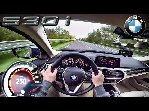 BMW 5 Series G30 AUTOBAHN POV TEST DRIVE by AutoTopNL