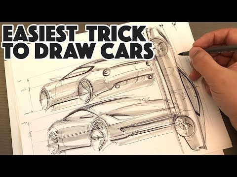 How to draw ANY car in 3 simple steps - TRY THIS thumbnail
