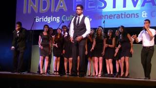 Dhamakapella a cappella performance at 2013 India Festival USA