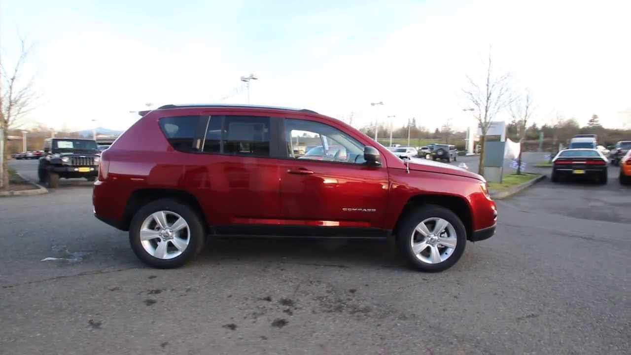 2014 jeep compass sport | dark cherry red | ed689287 | everett