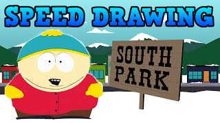SPEED DRAWING - KN-77 CARTMAN SOUTH PARK WITH BACKGROUND!!!