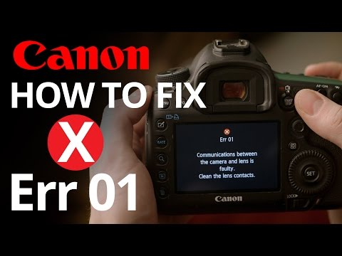 Canon Err 01 - How to fix faulty lens communication 📷