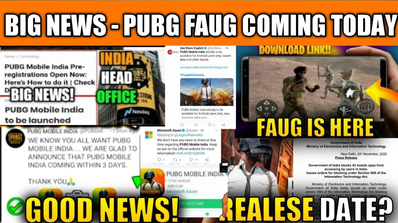 🔥FINALLY WAIT IS OVER FAU-G PUBG MOBILE INDIA IS HERE OFFICIAL ANNOUNCEMENT |TODAY LATEST NEWS PUBG