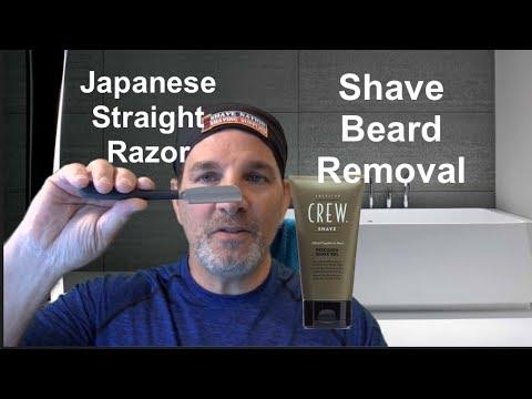 Shaving-Beard Removal-Feather Japanese Razor-American Crew Shave Gel