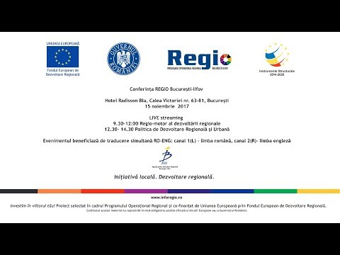 Conference REGIO Bucharest-Ilfov