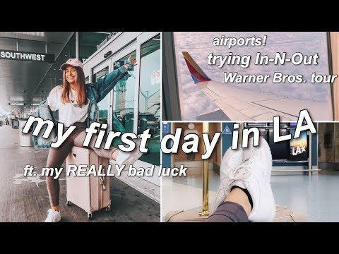 traveling to LA for the first time | LA VLOG 1