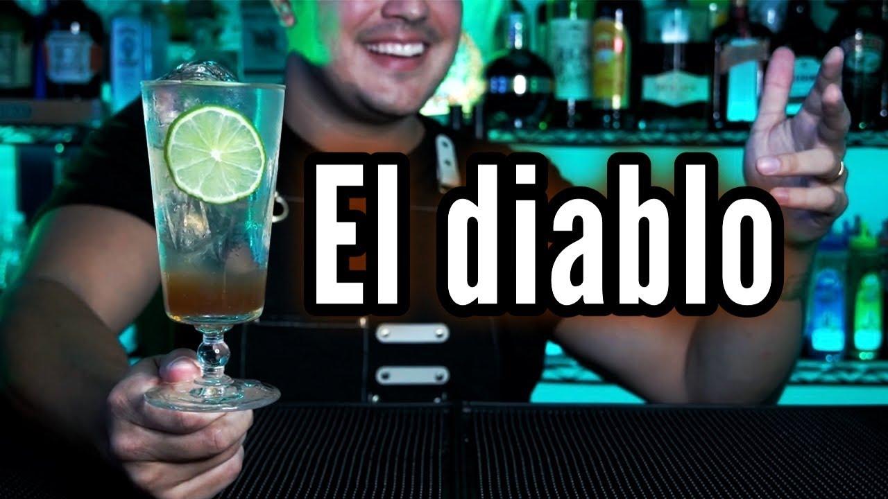 Cocktail El Diablo 👺 #short
