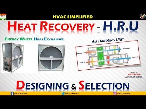Energy Recovery Air Handling Unit (WHEEL) Designing & Selection.