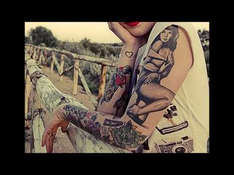 Pin-up girls tattoos for women