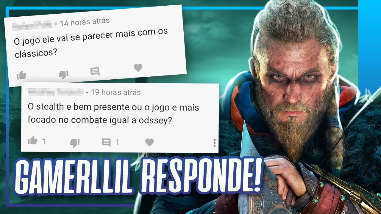 RESPONDENDO AS MAIORES DÚVIDAS DE ASSASSIN'S CREED VALHALLA ft @GAMERLLIL Games