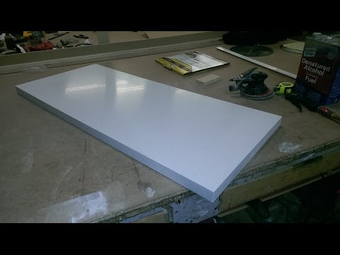 CORIAN TOP, SOLID SURFACE, EDGE GLUING