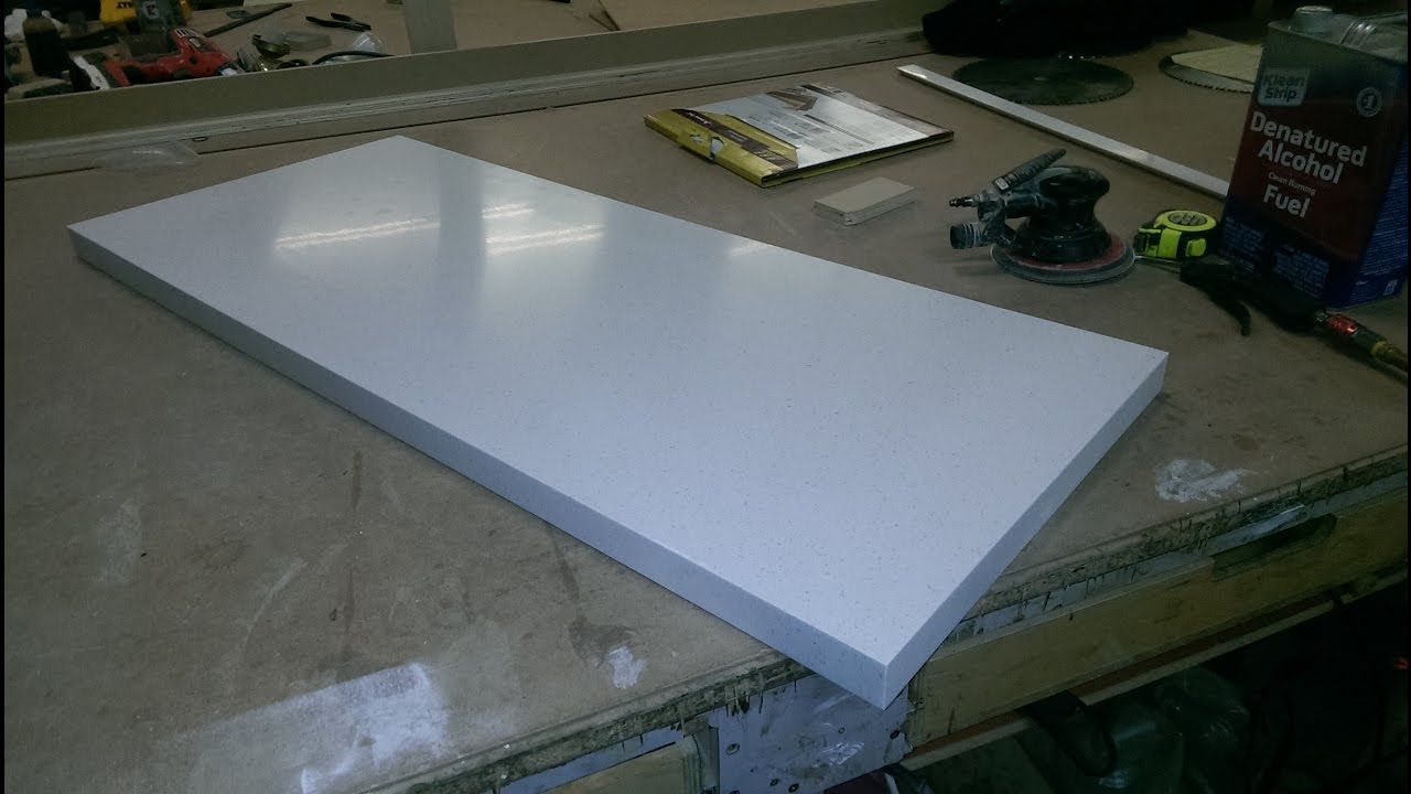 CORIAN TOP, SOLID SURFACE, EDGE GLUING - YouTube