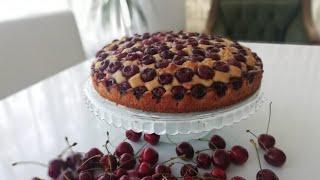 KİRAZLI  PASTA TARİFİ I CHERRY CAKE I  Pasta Tarifleri I Evde Kolay Pasta Yapımı