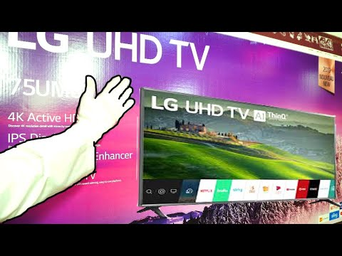 LG 75 4K Flagship Tv unboxing yes I am happy !