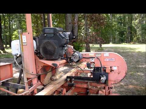 Portable Sawmill Cutting Black Willow Boards