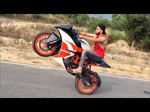 BEST KTM RC 200 STUNTS