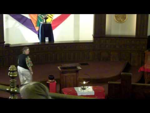 Gini Courter sermon at First Unitarian Church of San Jose