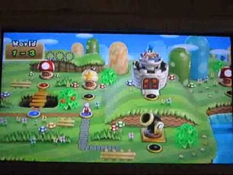 New Super Mario Bros Wii World 1 3 1 Cannon Youtube