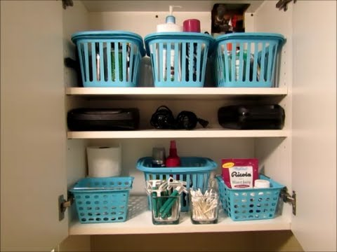 Bathroom Storage and Small Linen Closet Organization - YouTube