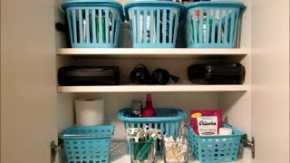 Bathroom Storage And Small Linen Closet Organization