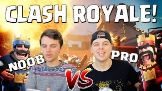NOOB VS PRO!! CLASH ROYALE NEDERLANDS