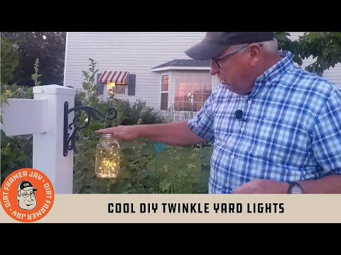 Cool DIY Twinkle Yard Lights