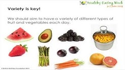 Fruit and vegetables - 5 A DAY