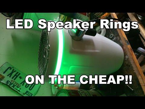 Custom Speaker Led Light Rings On The Cheap Youtube