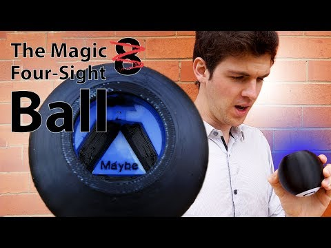 Designing and 3D Printing The Magic Four-sight Ball - (Magic 8 Ball)