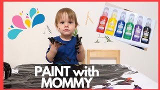 Finger Paint with mommy Learn colors for kids Finger Family song Nursery Rhymes