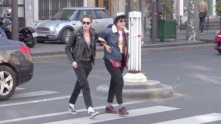 EXCLUSIVE - Kristen Stewart and girlfriend Soko running errands in Paris