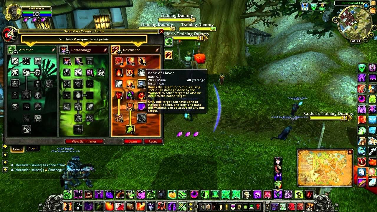 Warlock - Affliction / Demonology 1-80 Leveling Talent ...