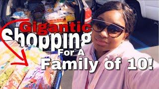 😱GIGANTIC GROCERY🛒 SHOPPING FOR FAMILY OF 10!