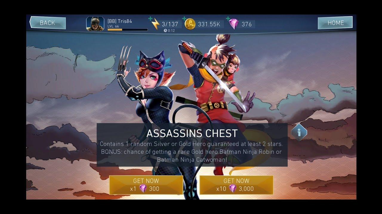 Injustice 2 Mobile Assassin Chest Batman Ninja Youtube