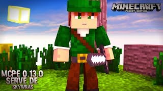 Minecraft PE 0.13.1 - NOVO SERVIDOR DE SKYWARS LIFEBOAT / LBSG (POCKET EDITION)