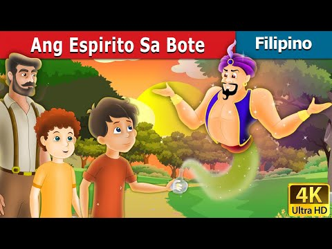 Ang Espirito Sa Bote | The Spirit in the Bottle Story in Filipino | 4K UHD | Filipino Fairy Tales