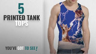 Top 10 Printed Tank Tops [Winter 2018 ]: Idgreatim Mens 3d Thunder Cat Printed Graphic T-shirts