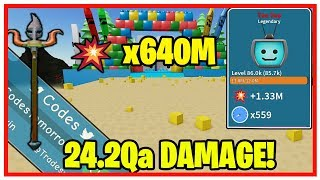 UNBOXING SIMULATOR - TOY LAND! NEW TWITTER CODE! 20Qa DAMAGE! (SPENDING 1,920 ROBUX)