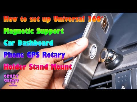 How To Set Up Universal 360° Magnetic Support Car Dashboard Phone GPS Rotary Holder Stand Mount
