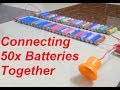 Fun with Lithium batteries (50 of them in series)